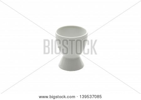 White egg cup isolated on white background