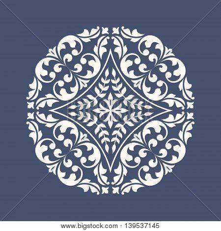 Round floral ornament. This is file of EPS10 format.