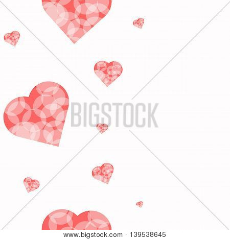 Illustration with hearts for your design. It can be used as fabrics greeting cards or invitations wallpapers and other