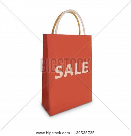 Sale shopping bag isolate on white background