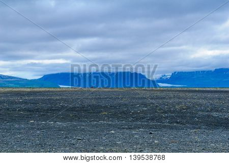 Landscape And Glacier View Near Skaftafell