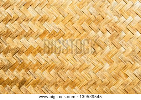 Flat woven bamboo strips into squares, texture