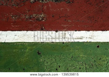 Basketball court  with green and red with white line