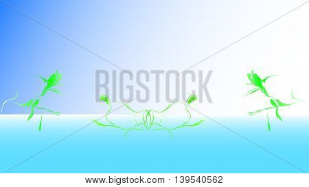 Green Leaf in the Water Background   icon