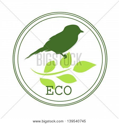 Sticker or logo for organic products when you create or that are not growing chemicals and other harmful substances have been applied