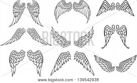 wings set for tattoo for you design