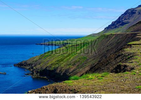Landscape And Coastline In Northern Iceland