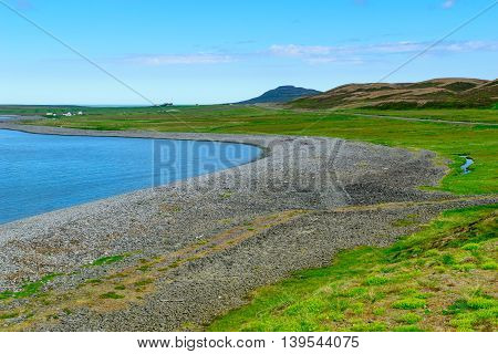 Landscape, Coastline Along The Skagafjordur Bay