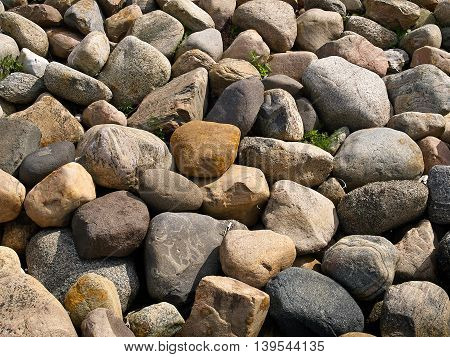 Pile of Granite Rocks in close detailed view