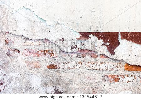 Cracked Decay Painted Concrete Wall Texture Background,grunge Wall.