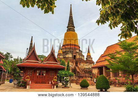 Wat Yai Chai Mongkol temple at Ayuttaya