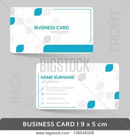 Business Card Template For Your Corporate Or Personal Presentation.