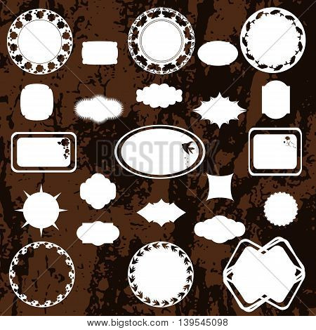 Set of decorative frames for photos images pictures and other memorable events for your design