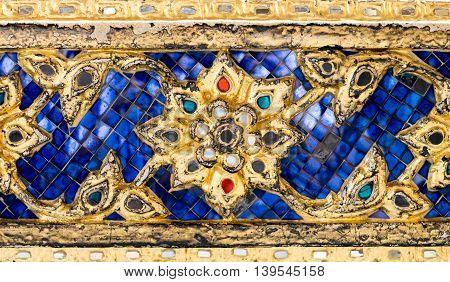 Thai Mosaic Pattern Art Wall ,texture Background