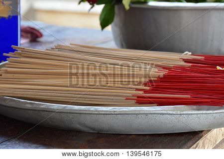Heap of Incense Thai herb in tray