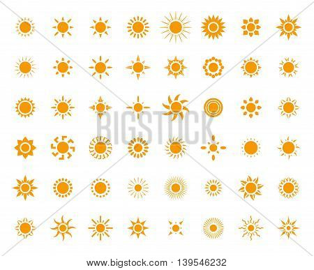 Set of sun images for you design
