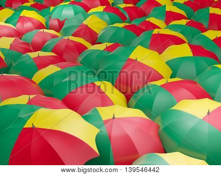 Umbrellas With Flag Of Benin