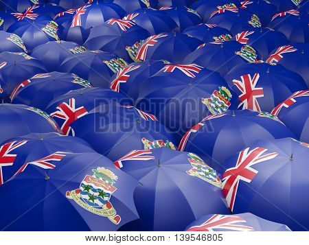 Umbrellas With Flag Of Cayman Islands