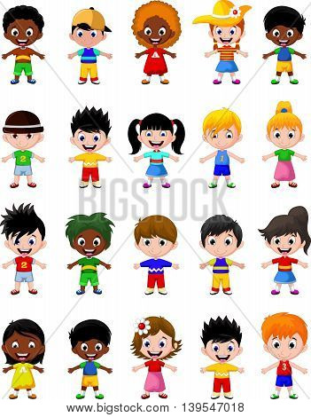happy kid cartoon collection for you design