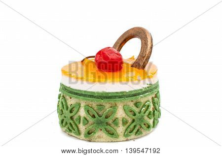 cake muffin idessert solated on white background