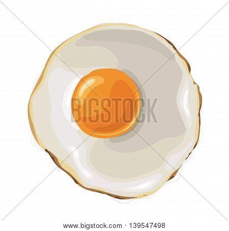 yellow Fried Egg illustration vector EPS 10