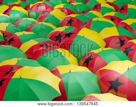 Umbrellas With Flag Of Guinea Bissau
