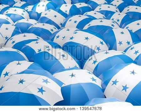 Umbrellas With Flag Of Honduras