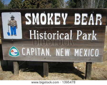 Smokey Bear Park Sign