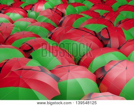 Umbrellas With Flag Of Malawi