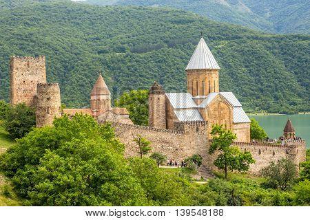 Ananuri Castle a castle complex on the Aragvi River in Georgia.