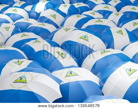 Umbrellas With Flag Of Nicaragua