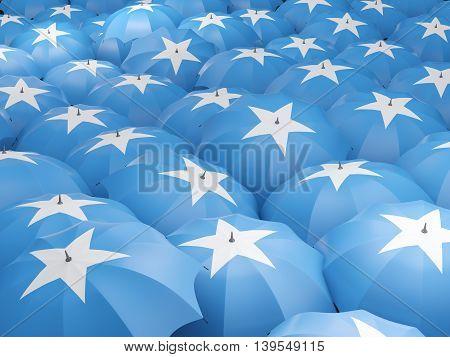 Umbrellas With Flag Of Somalia