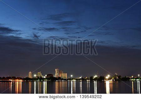 Scenic Khon Kaen Province Thailand in Twilight Time