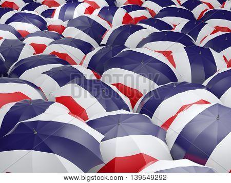 Umbrellas With Flag Of Thailand