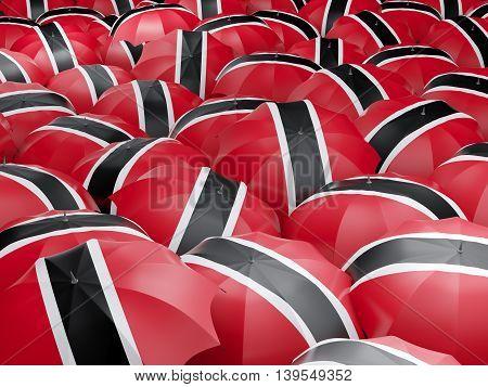 Umbrellas With Flag Of Trinidad And Tobago