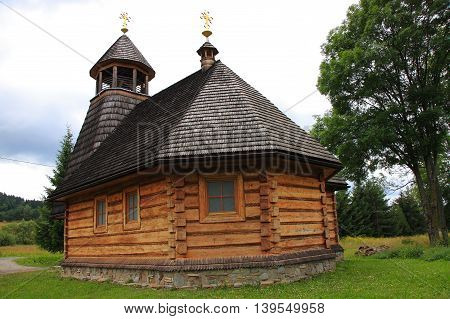 The wooden church dedicated to Our Lady of Czestochowa Wola Michowa (Bieszczady Poland)