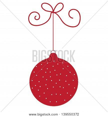 Red Merry Christmas Holiday Ornament Ball Decoration