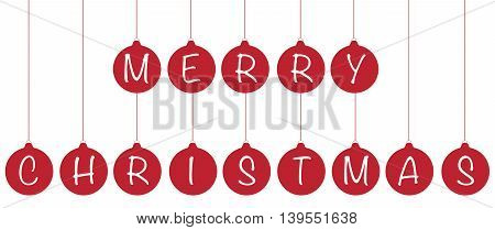 Merry Christmas Happy Holidays Ball Ornaments Hanging