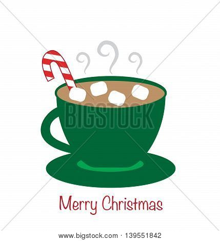 Merry Christmas Holiday Hot Chocolate Coffee Drink