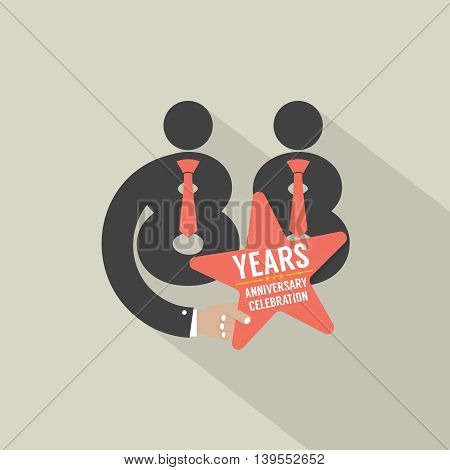 88th Years Anniversary Typography Design Vector Illustration. EPS 10