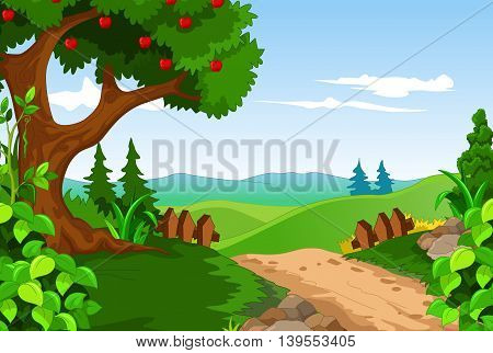 beauty forest with landscape for you design