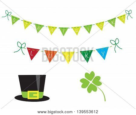 Happy Saint Patricks Day Four Leaf Clover