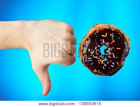 Donut With Thumb Down