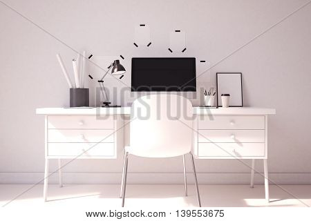 Elegant Computer Table At Home Office