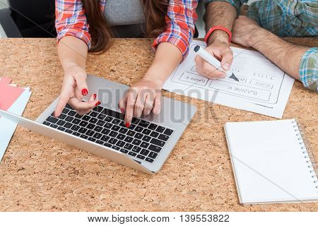 Man And Woman Working As Team