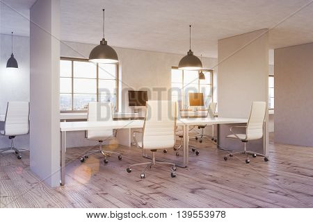 Coworking Office Sideview Toning