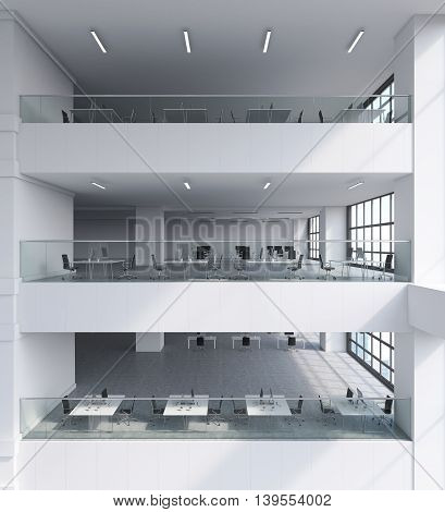 Office Building Interior With Several Storeys