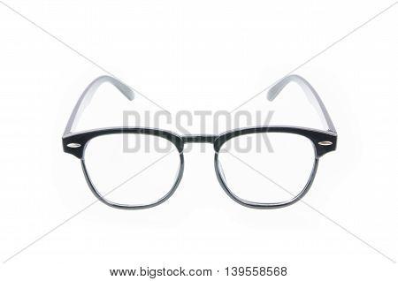 Fashion Glasses Style Plastic-framed  On White Background..