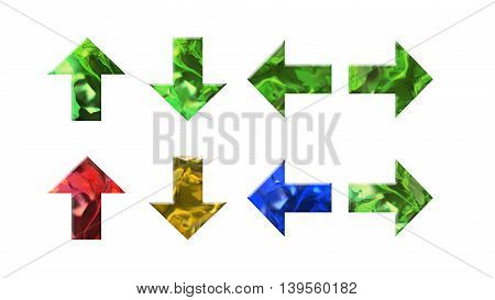 Crystal Texture Of Arrow Shape