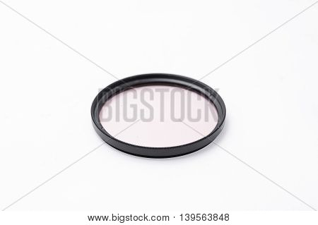 UV filter for camera lens isolated on white background